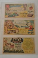 Lot of 3 Color Tootsie Roll Pop Vintage Comic Book Advertisements Candy