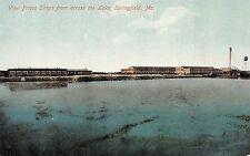 Missouri Mo Postcard c1910 SPRINGFIELD Frisco Railroad SHOPS Across Lake 2