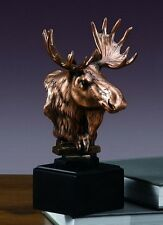 Moose Head 5.5 x 9  Stunning Beautiful Bronze Statue / Sculpture New