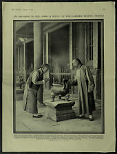 China Taoist Priest Eastern Temple Peking 1910 1 Page Photographic Study Article
