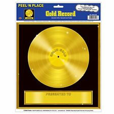 50s sockhop GOLD Music RECORD Decal sticker PARTY DECORATION AWARD Disco 70s