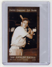 Chuck Connors '51 Los Angeles minor league, later TV & film star, mint cond.