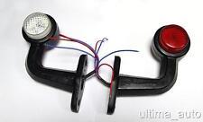 2 x LED SIDE OUTLINE MARKER 12V RED/WHITE LIGHT TRAILER LORRY TRUCK CHASSIS BUS