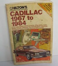 Vintage 1967 - 1984 Chilton's CADILLAC Car Automotive Repair Service Manual Book