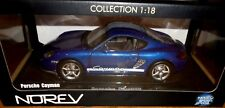 car 1/18 NOREV 187602 PORSCHE CAYMAN 2009 MET BLUE NEW BOX