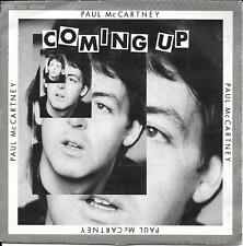 "45 TOURS / 7"" JUKE BOX--PAUL McCARTNEY--COMING UP / LIVE AT GLASCOW--1980"