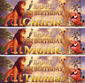2 x personalised birthday banner Lion King Lion Guard animal children kids party