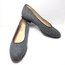 Women's Talbots Gray Tweed Ballerina Ballet Flats Size 7.5 M