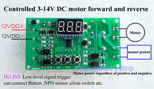 12V Dual Programmable Relay Control PLC Cycle Delay Timing Reversible direction