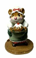 """Wee Forest Folk: """"Pudding Anyone?"""" Green Apron, Collectible, 2000, M-250"""