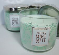 Bath & Body Works White Mint Latte 3 Wick Candle