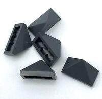 Lego 5 New Dark Bluish Gray Sloped Pieces 45 2 x 1