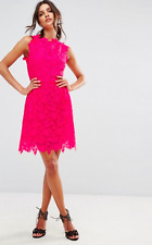 Zibi London  Ladies All Over Lace Skater Dress in Fuchsia UK 16/ EU 44