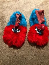 Pair Of Vintage Papa Smurf Figure Head Peyo Slippers