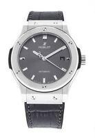 Hublot Classic Fusion Grey Dial Automatic Mens Titanium Watch 542.NX.7071.LR