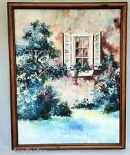 ORIGINAL OIL PAINTING~PAQUE(SERGE) PAQUET~QUEBEC ARTIST~ONE OFA KIND~FRAMED