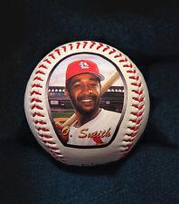 Ozzie Smith Baseball with Art Print of Original Art Work