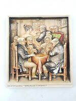 Osborne Ivorex Plaque Whist at Wardles Mr Pickwick Humorous Antique 22cm x 20cm