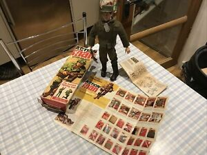 Boxed Vintage Action Man Painted Head / Rivets Rare Early Soldier 60s Palitoy