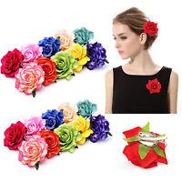 Elegant Women Bridal Rose Flower Hair Clip Hairpin Wedding Party Brooch Access