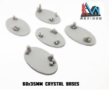 3D Printed - 60x35mm Crystal Cluster Oval Bases - Set of 5 Bases