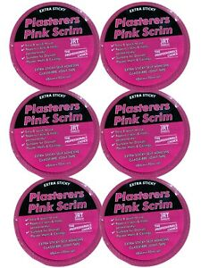 24 X Pink Scrim - EXTRA STICKY - Ultimate Adhesive Fibreglass Tape - 50mm x 90m