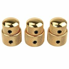 3x Gold Stacked Dual Control Knob Concentric Set for Guitar Bass Part