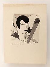 1927 Estonia Avant Garde Original Vintage INK DRAWING painting