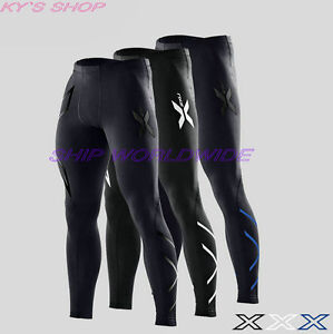 Men's  Compression GYM Pants High Elastic Sweat Suitable For Outdoor Sports
