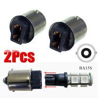 2 Pcs T10 168 194 to 1156 Ba15s Bulb Base Socket Converter Transformer