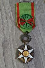 D5) Médaille civile magnifique officier du mérite agricole avec rosette medal