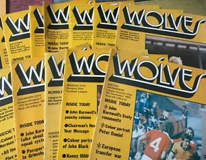Wolves HOME & AWAY programmes 1979/80 1979 1980 League & Cup 1st Division