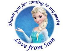 35 Personalised Frozen Elsa Birthday Stickers 3for2 105 Party Thank You Seals