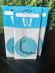 3 Scentsy Scent Circle Lot Car Air Freshener Free Ship Blue Grotto