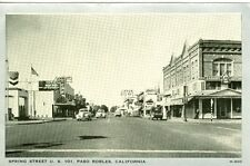Paso Robles, CA Spring Street on U.S. 101
