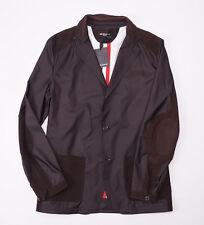 NWT $4150 KITON NAPOLI Chocolate 100% Silk Suede-Trimmed Jacket Blazer 50/40 (M)
