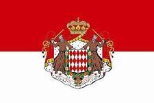 Aufkleber Monaco mit Wappen Flagge Fahne 8 x 5 cm Autoaufkleber Sticker