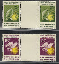 Dahomey 1964 Weather Space Sc 196-197 gutter pairs Mint never hinged