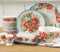 The Pioneer Woman Vintage Floral Ruffled  20-Pc Dinnerware For 4 w/ Hostess Set
