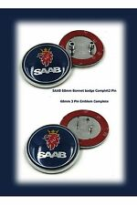 Brand New 68mm SAAB 9.3-9.5 Front & Rear sedan complete Badge Emblem 12844161