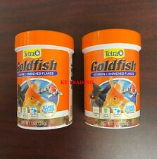 (2-pk)Tetra Goldfish Food Vitamin C Flakes ~Clearer Water Complete Diet EX 06/23