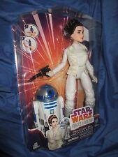 "STAR WARS FORCES OF DESTINY Princess Leia/R2-D2 12"" Figure Doll ~Hasbro/Disney"