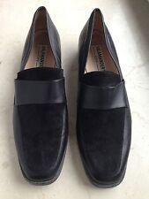 Salamander schwarz Leder Schuhe Gr.42 Mokassins Slipper Loafer Trotteur