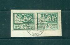 Echte Briefstück-Briefmarken aus deutschen Besetzungsgebieten im 2. Weltkrieg