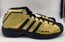 Adidas Pro Model 2G Team Basketball Shoes Gold/Black Mens Size 14 FV8922