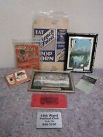Lot of Vintage Local Advertising Items-Thermometer-French Fried Popcorn +