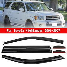 Car Window Sun Rain Guard Visors Kit 6PCS For Toyota Highlander 01-07 UE