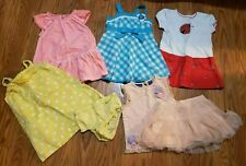 7 Piece Lot Of Size 18 Month Baby Girl Clothes: Dresses, Skirt & Top Set