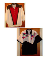 BLOUSE CAMP SHIRT TOP Short/Long Sleeve Black White Red Blue Green Size 20W