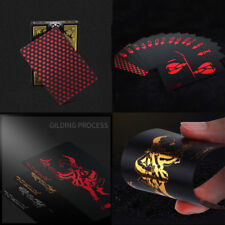 Creative Red Plastic PVC Poker Waterproof Magic Playing Cards Table Game 55pcs